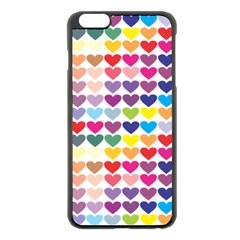 Heart Love Color Colorful Apple iPhone 6 Plus/6S Plus Black Enamel Case