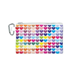 Heart Love Color Colorful Canvas Cosmetic Bag (S)
