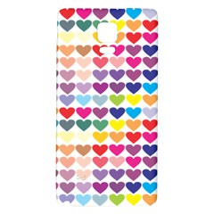 Heart Love Color Colorful Galaxy Note 4 Back Case