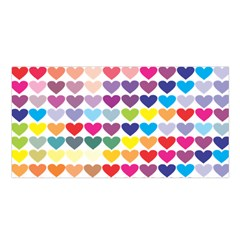 Heart Love Color Colorful Satin Shawl
