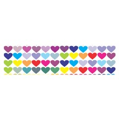 Heart Love Color Colorful Satin Scarf (Oblong)