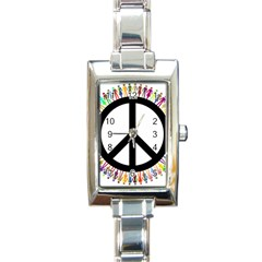 Male Man Boy Masculine Sex Gender Rectangle Italian Charm Watch