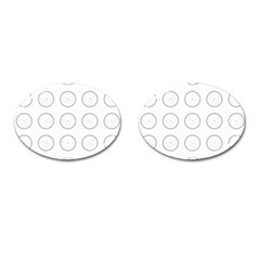 Butterfly Wallpaper Background Cufflinks (Oval)