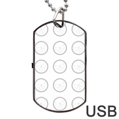 Butterfly Wallpaper Background Dog Tag USB Flash (Two Sides)