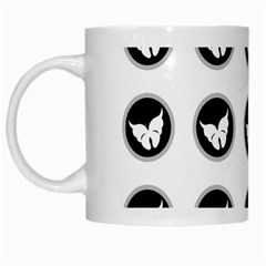 Butterfly Wallpaper Background White Mugs