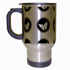 Butterfly Wallpaper Background Travel Mug (Silver Gray)