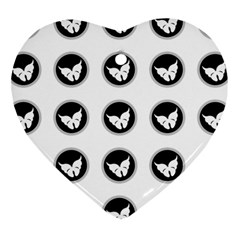 Butterfly Wallpaper Background Heart Ornament (Two Sides)