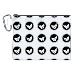 Butterfly Wallpaper Background Canvas Cosmetic Bag (XXL)