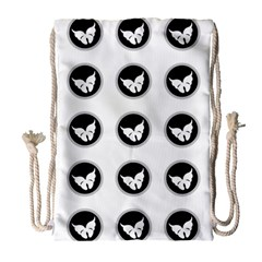 Butterfly Wallpaper Background Drawstring Bag (Large)