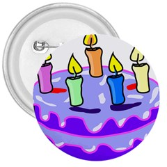 Cake Happy Birthday 3  Buttons