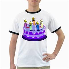 Cake Happy Birthday Ringer T-Shirts