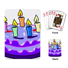 Cake Happy Birthday Playing Card