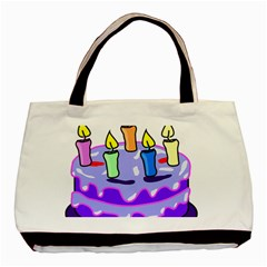 Cake Happy Birthday Basic Tote Bag (Two Sides)