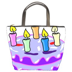 Cake Happy Birthday Bucket Bags
