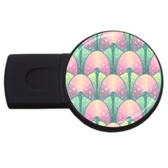 Seamless Pattern Seamless Design USB Flash Drive Round (2 GB)