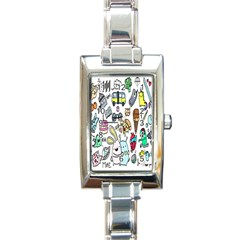 Story Of Our Life Rectangle Italian Charm Watch
