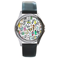 Story Of Our Life Round Metal Watch