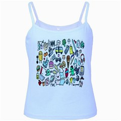 Story Of Our Life Baby Blue Spaghetti Tank