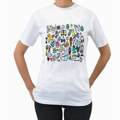 Story Of Our Life Women s T-Shirt (White) (Two Sided)