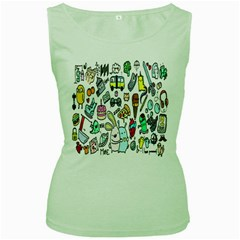 Story Of Our Life Women s Green Tank Top