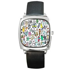 Story Of Our Life Square Metal Watch