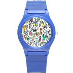 Story Of Our Life Round Plastic Sport Watch (S)