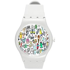 Story Of Our Life Round Plastic Sport Watch (M)