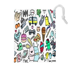 Story Of Our Life Drawstring Pouches (Extra Large)