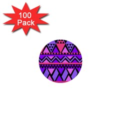 Seamless Purple Pink Pattern 1  Mini Buttons (100 pack)