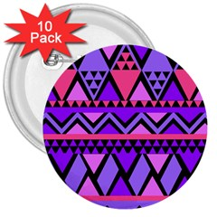 Seamless Purple Pink Pattern 3  Buttons (10 pack)
