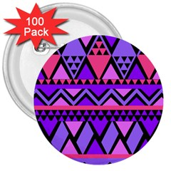 Seamless Purple Pink Pattern 3  Buttons (100 pack)