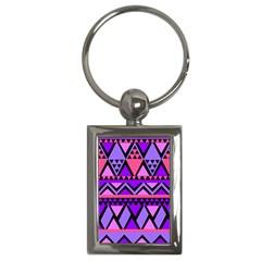 Seamless Purple Pink Pattern Key Chains (Rectangle)