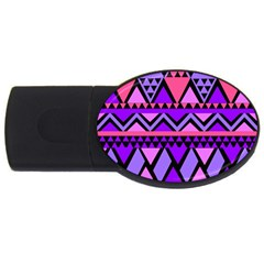 Seamless Purple Pink Pattern USB Flash Drive Oval (2 GB)