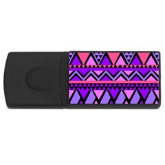 Seamless Purple Pink Pattern USB Flash Drive Rectangular (2 GB)