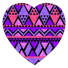 Seamless Purple Pink Pattern Jigsaw Puzzle (Heart)