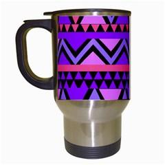 Seamless Purple Pink Pattern Travel Mugs (White)