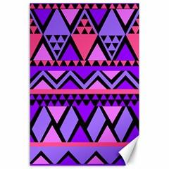Seamless Purple Pink Pattern Canvas 24  x 36
