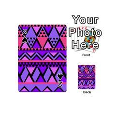 Seamless Purple Pink Pattern Playing Cards 54 (Mini)