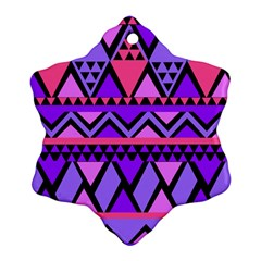 Seamless Purple Pink Pattern Snowflake Ornament (Two Sides)