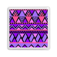 Seamless Purple Pink Pattern Memory Card Reader (Square)