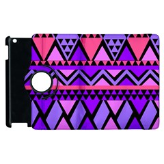 Seamless Purple Pink Pattern Apple iPad 2 Flip 360 Case