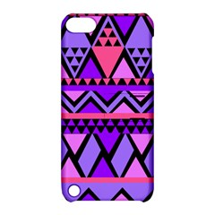 Seamless Purple Pink Pattern Apple iPod Touch 5 Hardshell Case with Stand