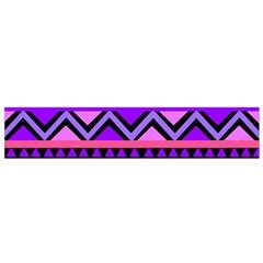 Seamless Purple Pink Pattern Flano Scarf (Small)