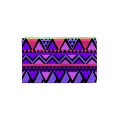 Seamless Purple Pink Pattern Cosmetic Bag (XS)