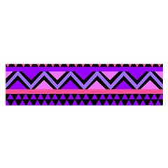 Seamless Purple Pink Pattern Satin Scarf (Oblong)