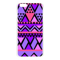 Seamless Purple Pink Pattern Apple Seamless iPhone 6 Plus/6S Plus Case (Transparent)