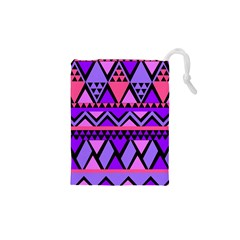 Seamless Purple Pink Pattern Drawstring Pouches (XS)