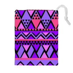 Seamless Purple Pink Pattern Drawstring Pouches (Extra Large)