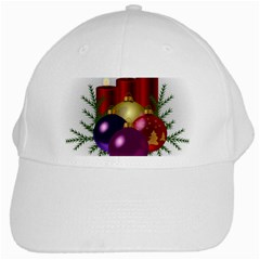 Candles Christmas Tree Decorations White Cap