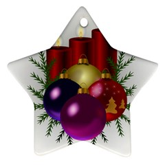 Candles Christmas Tree Decorations Ornament (Star)